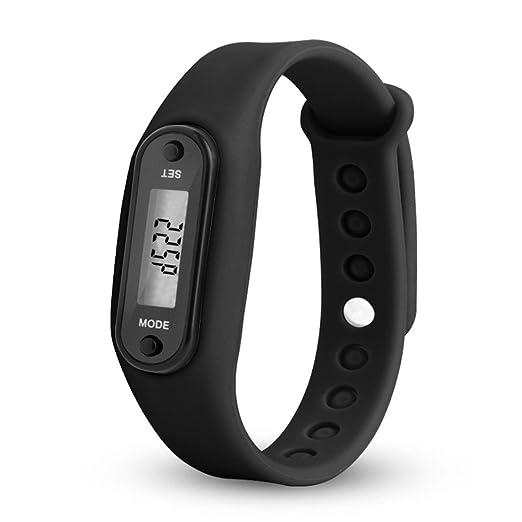 QinMM relojes Podómetro deportivos, Pulsera Actividad Pulsera Inteligente Impermeable cálculo LCD para mujer y hombre