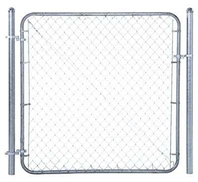 "Chain Link Fence Walk-through Gate Kit - Adjust-A-Gate Chain Link Gate Building Kit - This fence gate kit is perfect for replacing existing sagging gates or building new ones. (24""-72"" wide x 4' high)"