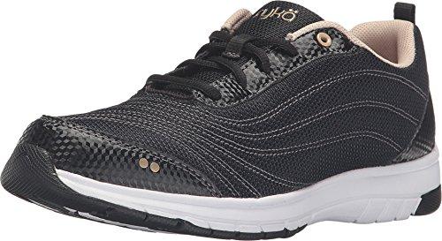Ryka Women's Continuum Black Sneaker 7 D – Wide