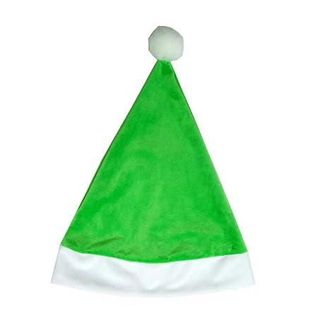 Amosfun navidad santa sombrero felpa sombrero de navidad santa ...