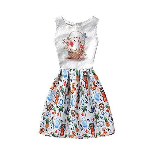 Per Bambina Erosebridal 3 I Da Playwear Stampato Maniche Bambini Vestito E 8t Fiore Partito w6XgaqYX0x