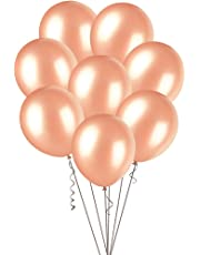 """Meteor Party Metallic Latex Balloons, Rose Gold, 30cm/12"""", Pack of 100"""