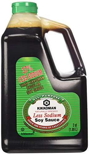 Kikkoman Lite Soy Sauce, Low Sodium 64-ounce Bottle (pack Of 1)