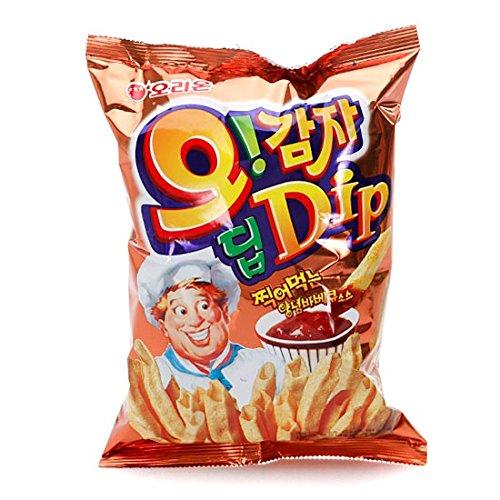 (3P Big Size Korea Potato Snack Oh Gam Ja Dip (144g X 3) BBQ Taste)