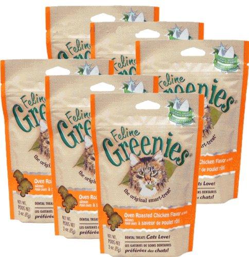 6-PACK Greenies Felines – CHICKEN (15oz ), My Pet Supplies