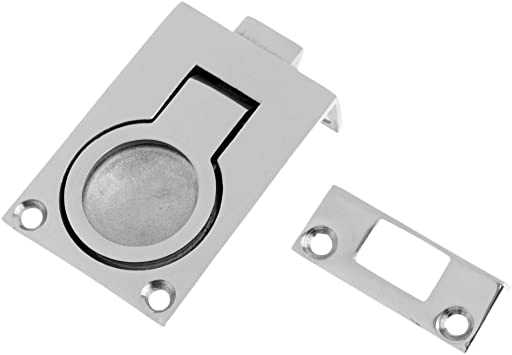 """Boat Door Hatch Cabinet Lift //Pull Ring Slam Latch 2 1//4/"""" Marine Stainless steel"""