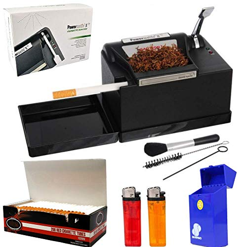 Powermatic 2 PLUS Electric Cigarette Injector Machine+FREE Tubes,Cig Case & lighters