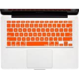 "Kuzy - ORANGE Keyboard Cover Silicone Skin for MacBook Pro 13"" 15"" 17"" (with or w/out Retina Display) iMac and MacBook Air 13"" - Orange"
