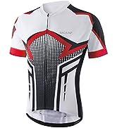 BALEAF Men's Cycling Jersey Mountain Biking Shirts Short Sleeve Tops Clothing Full Zip MTB 4 Pock...