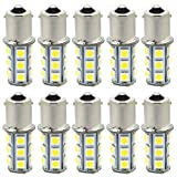 1156 1141 7506 P21W LED Bulb 18-5050 SMD BA15S Interior Lights Replacement Backup Reverse Tail 12V RV Camper 6000K Xenon White Pack of 10
