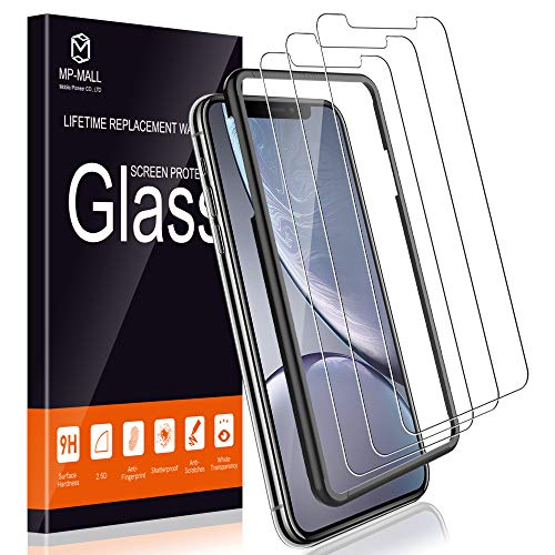 MP-MALL Screen Protector for iPhone XR, [3-Pack] [Tempered Glass] [Alignment Frame Easy Installation] with Lifetime Replacement Warranty ()