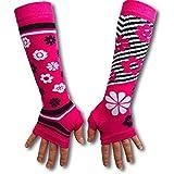 Oddsocks Armstulpen in pink mit Blumen im 2er Set - Oddsocks Stulpen Pulswärmer Blumen