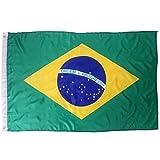 HDE Brazil Soccer Flag Rio Wall Tapestry (3x5 ft)