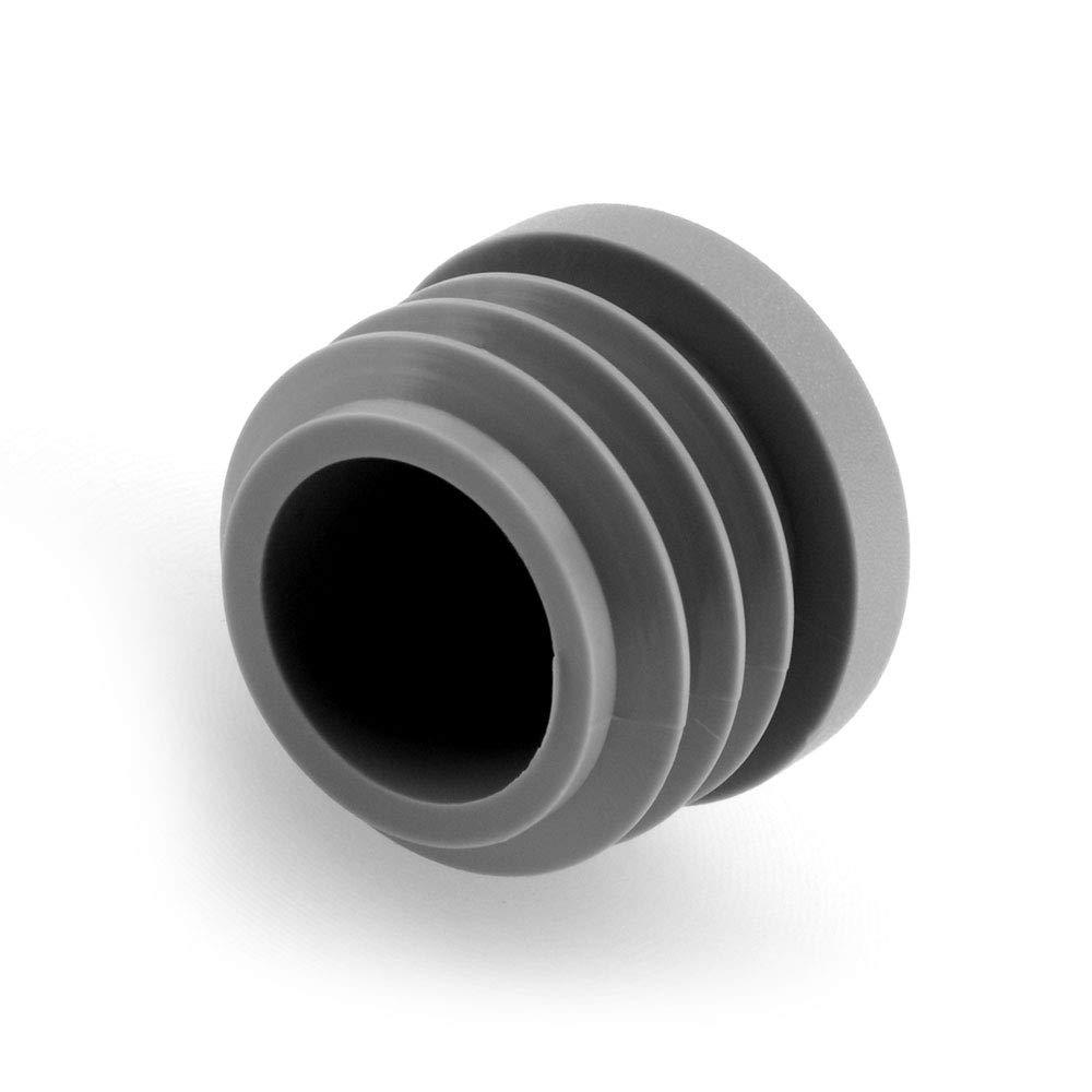 GLEITGUT Lot de 24 bouchons /à lamelles 23 mm /à 25 mm Tube rond 27 mm Tube ext/érieur gris