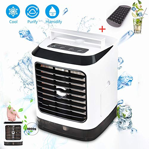 (Air Cooler, USB Evaporative Personal Coolers with Waterbox, Portable LED Table Fan, 3 Fan Speed, Ultra-Quiet Table Fan for Home Office Bedroom Kids Camping (01))