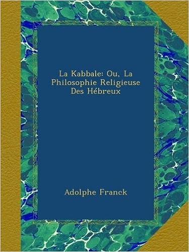 Télécharger des livres sur Kindle iPod La Kabbale: Ou, La Philosophie Religieuse Des Hébreux PDF