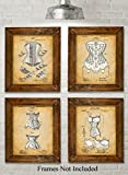 Original Corsets Patent Art Prints - Set of Four