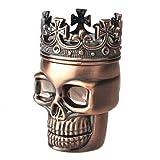 Pop Time Tobacco Grinder,Skeleton Crown Grinder for Spice Herb...