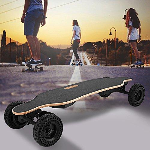 Kemanner 37'' E-Skateboard, 1800W Dual Hub-Motors Longboard, Mountains Skateboard with Replaceable...