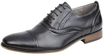 Goor Zapatos Oxford Brogue con puntera para hombre