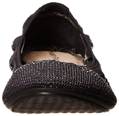 Stud Women's Hush Chaste Flats Jane Ballet Mary Puppies Black Rv5qv8