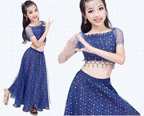 Purple Summer Kids Belly Dance Tops&Dress Set Blue MpFQAd0qK