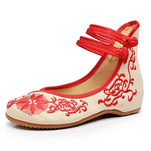ひまわりの新しい女性の刺繍靴Espadrillesのキャンバスフラット通気性のファッションと快適なウォーキングダンスシューズ