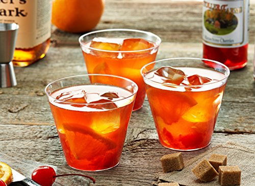 Toasted Drinkware Hard Plastic Clear 9 oz Old Fashioned Tumblers, 100 Count