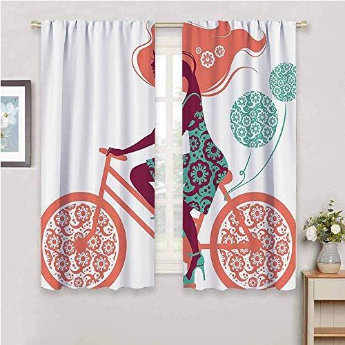 Floral Blackout Curtain Panels Window