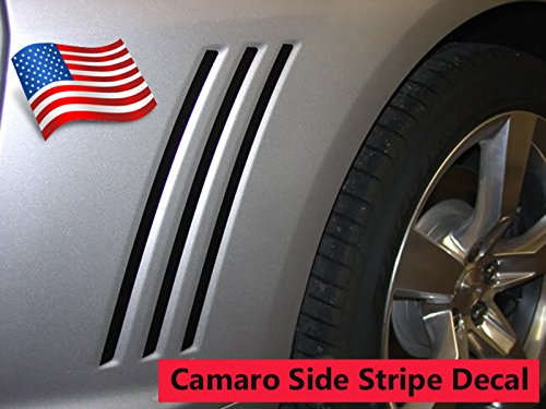 2010 2011 2012 2013 2014 2015 Chevy Camaro Grill Vent Blackouts Inserts Vinyl Graphic Decal Stripes - Color: (Decals Stripes Kit)