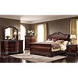 McFerran Bella Bedroom Sleigh Headboard, Foot-board and Rails Bed Set (Queen) B188