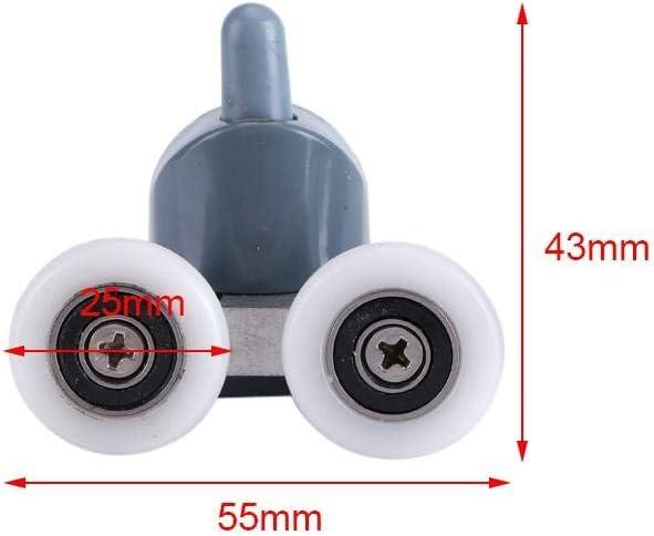 TOPINCN Ruedas de Repuesto para mampara de Ducha Single Wheel 8 Unidades