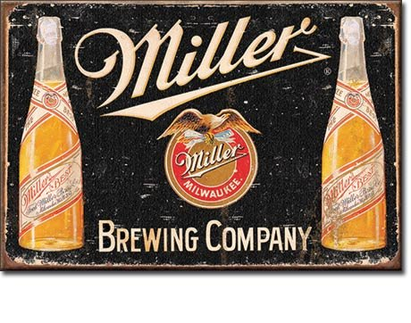 MILLER BREWING COMPANY A Great American Lager Beer 2