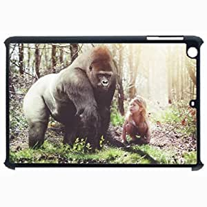 Customized Back Cover Case For iPad Air 5 Hardshell Case, Black Back Cover Design Gorilla Personalized Unique Case For iPad Air 5 wangjiang maoyi