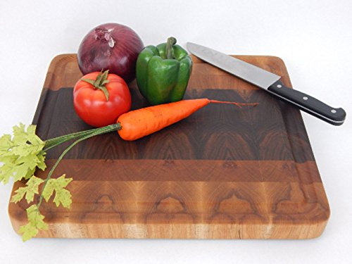 Handcrafted Wood Cutting Board - End Grain Style - Walnut, Cherry, Maple