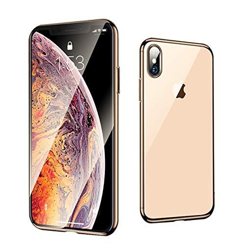 iPhone ケース iPhonX ケース ガラスケース 超薄型 最高硬度9H 全面保護 軽量 耐衝撃 iPhoneX