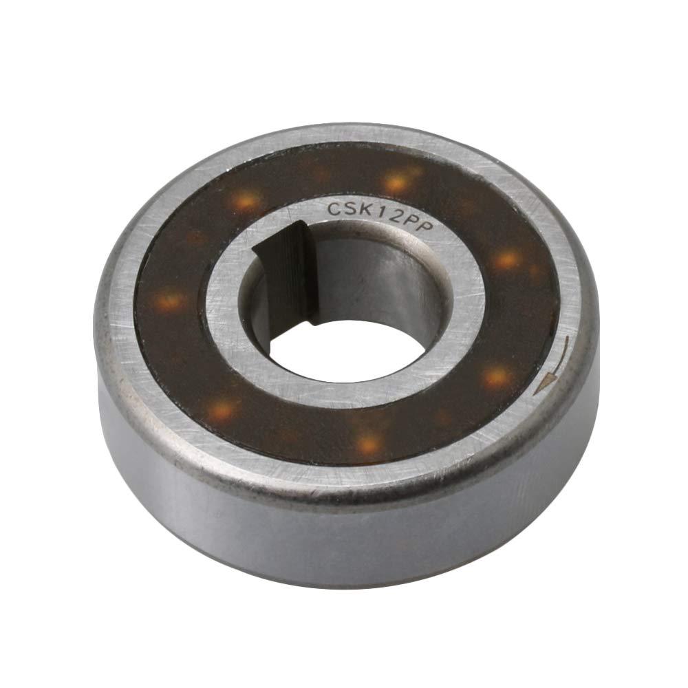 BQLZR Roulement à sens unique en acier 12 x 32 x 10 mm Largeur de fente 2 mm 4 mm Roulement à sens unique avec clés internes et externes Sprag roue libre d'embrayage