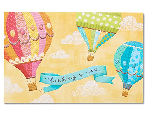 American Greetings Hot Air Balloon Get Well Card with (Balloons Greeting Card)