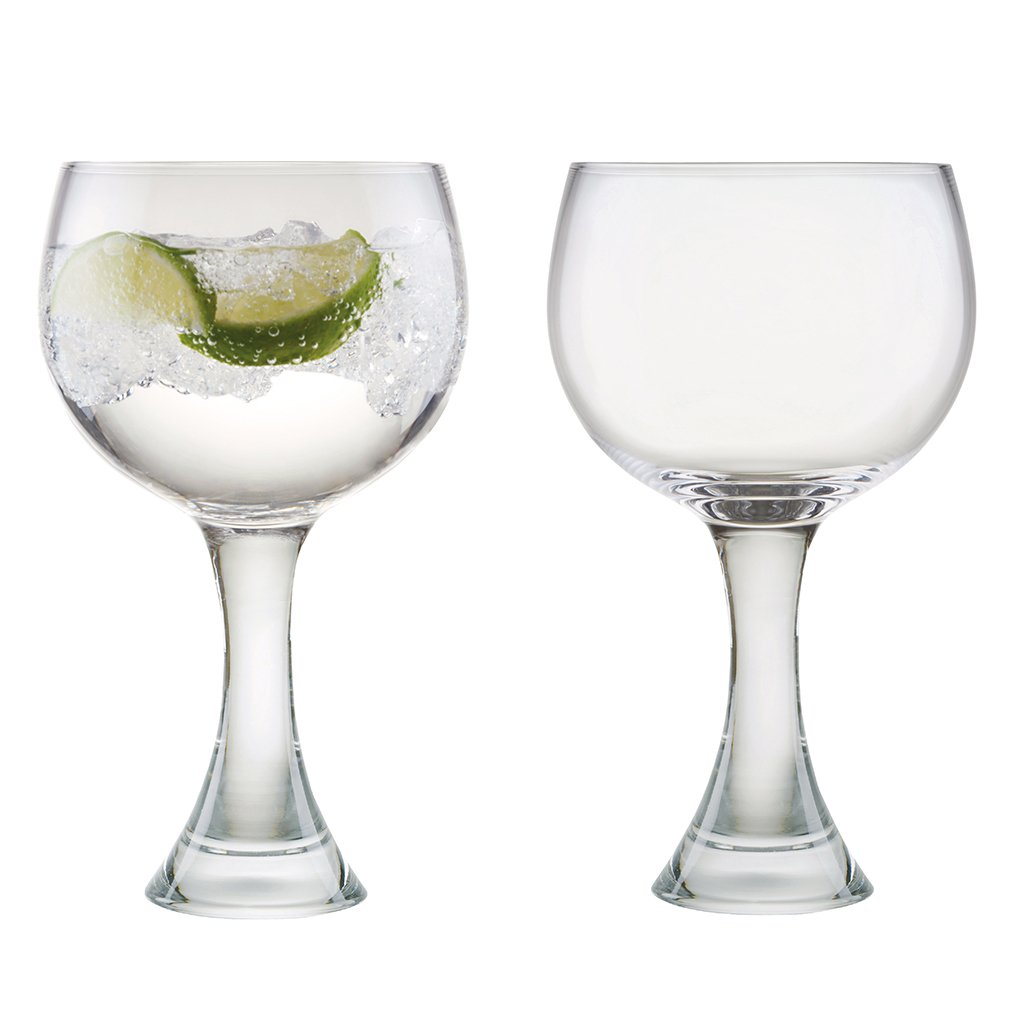 Luxury Extra Large Pair Of Handblown Gin Glasses - supersize 700ml capacity!/Extremely robust, heavy contemporary glassware/Dishwasher Safe/Set of 2/Christmas Gift for Her!/H20 x W10cm Dibor