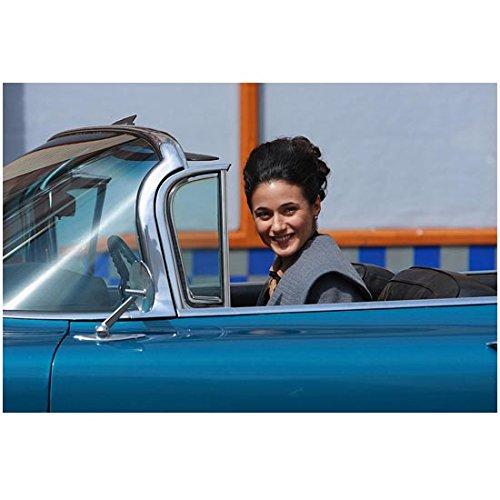 Cadillac Records 8x10 Photo Emmanuelle Chriqui Driving Blue Car - Blue Emmanuelle