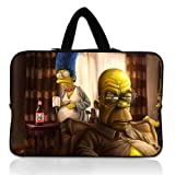 Unique Design 13 Inch Portable Laptop handbag With The Simpsons Homer Marge Bart Art Breaking Bad Neoprene Laptop Sleeve for 13 13.3 Inch Laptop Bag Cover(Twin Sides)
