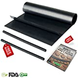 roasting oven liners - IDEALI Oven Protector Set: 2 Non-Stick Oven Liners + FREE 2 Oven Rack Guards & EBOOK| BPA-Free, Easy 2 Clean & Dishwasher Safe| Top Liner Kit For Electric, Gas, Grill, Microwave and Toaster Ovens.