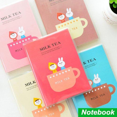MONNY Mini cute notebook Milk tea diary books notepad zakka kawaii korean caderno escolar stationery office School supplies 6412