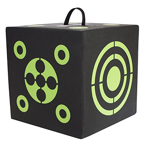 Reusable Target Balls (Elkton Outdoors 6-Sided 3D Cube Reusable Archery Target Constructed with Rapid Self Healing XPE Foam for all Arrow Types)