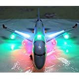 Little grin Musical Airbus Aero Plane Bump & Go with Sound LED Light Gift Toy for Kids