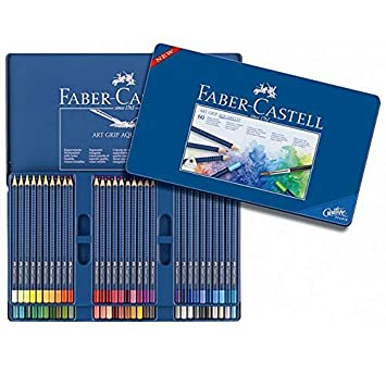 Faber Castell Lápices de colores Art Grip Aquarelle, 60 ...