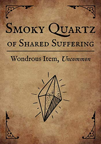 RPG Journal: Blank college ruled notebook for role playing gamers: Wondrous Item: Smoky Quartz of Shared Suffering
