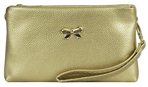 Gold Femme Metallic Handbag pour Shop Big menotte Style 1 Sac qCw8azaX