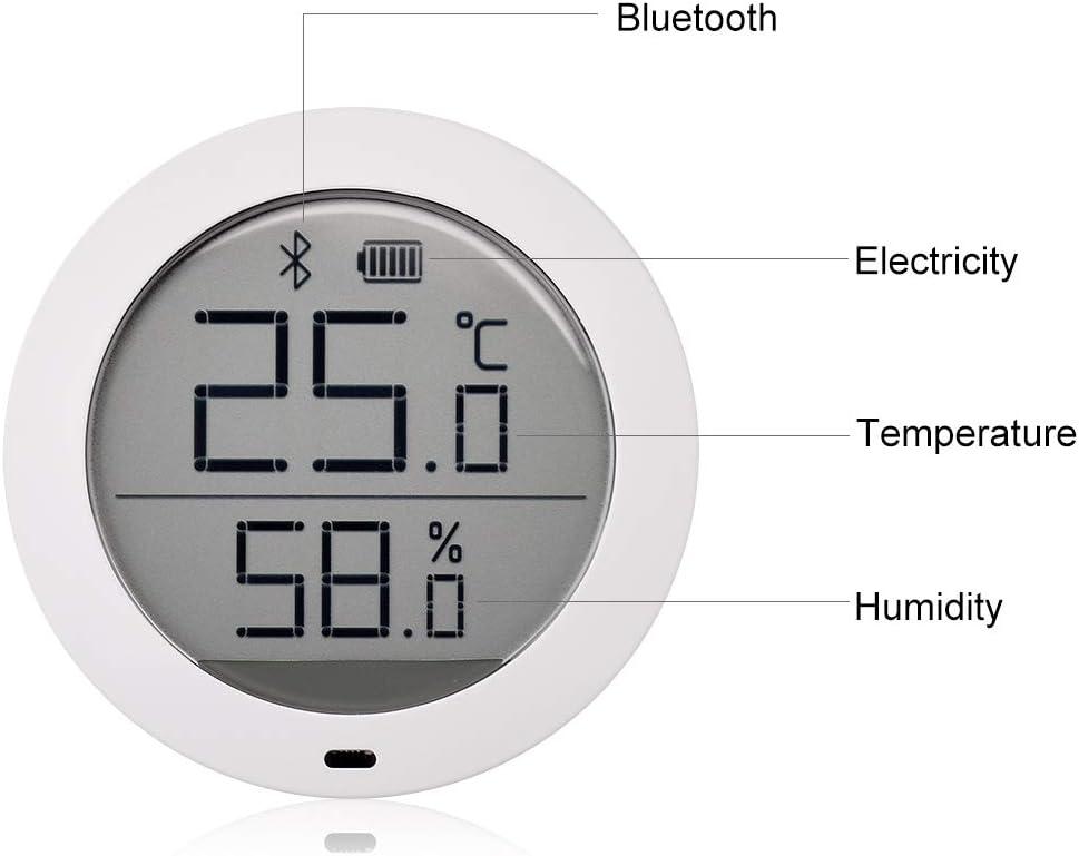 Dewanxin Für Mijia Temperature And Humidity Monitor Digitales Thermometer Internes Hygrometer Für Mijia Temperatursensor Bluetooth Temperatur Mit Lcd Bildschirm Fernanzeige über Mi Home App Auto