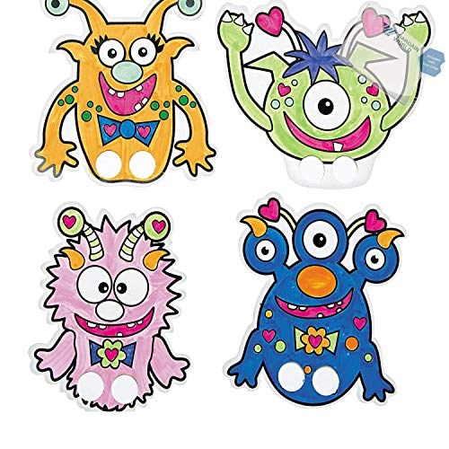 Color Your Own Valentine Monster Finger Puppets (With Sticky Notes) ()